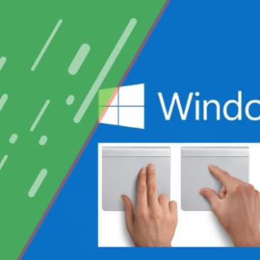 Gestos en windows 10