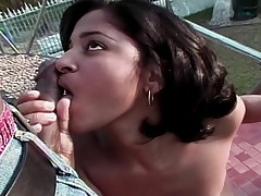 Hot latina model get fucked by her photographer outside