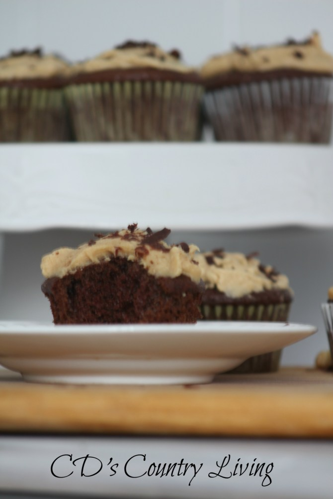 Chocolate Cupcakes with Peanut Butter Frosting1