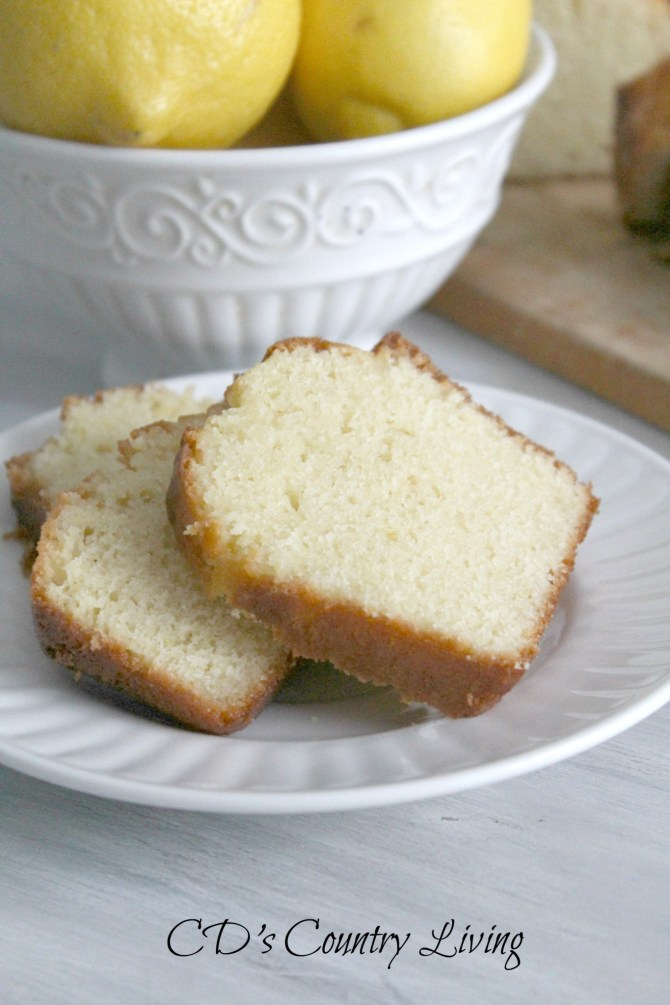 Lemon Bread Sliced