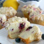 Blueberry Lemon Streusel Muffin