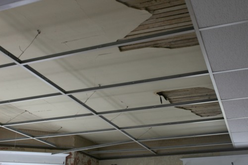 A Damaged Ceiling Repair or Replace