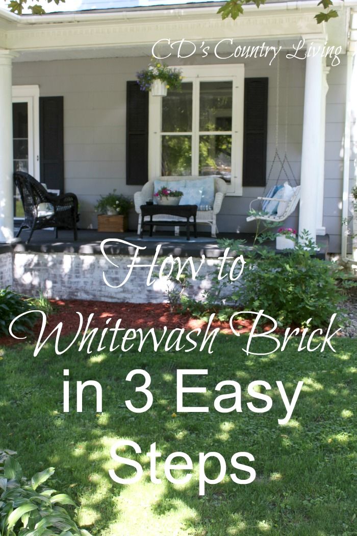 Greatest How to Whitewash Exterior Brick in 3 Easy Steps! - BB67