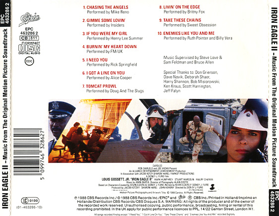 Iron Eagle Ii Soundtrack 1988 Cd Sniper Reference