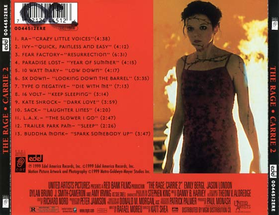 Carrie 2 Soundtrack 1999  CD Sniper Reference