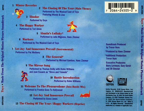 Toys Soundtrack 1992  CD Sniper Reference Collection of