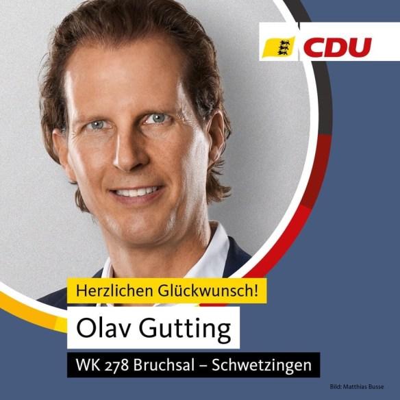 Olav Gutting gewinnt Wahlkreis Bruchsal-Schwetzingen