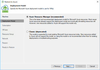 Veeam Direct Restore to Microsoft Azure