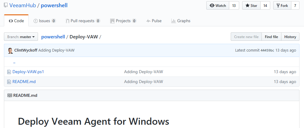 Using PowerShell to Automate the Deployment of Veeam Agent for
