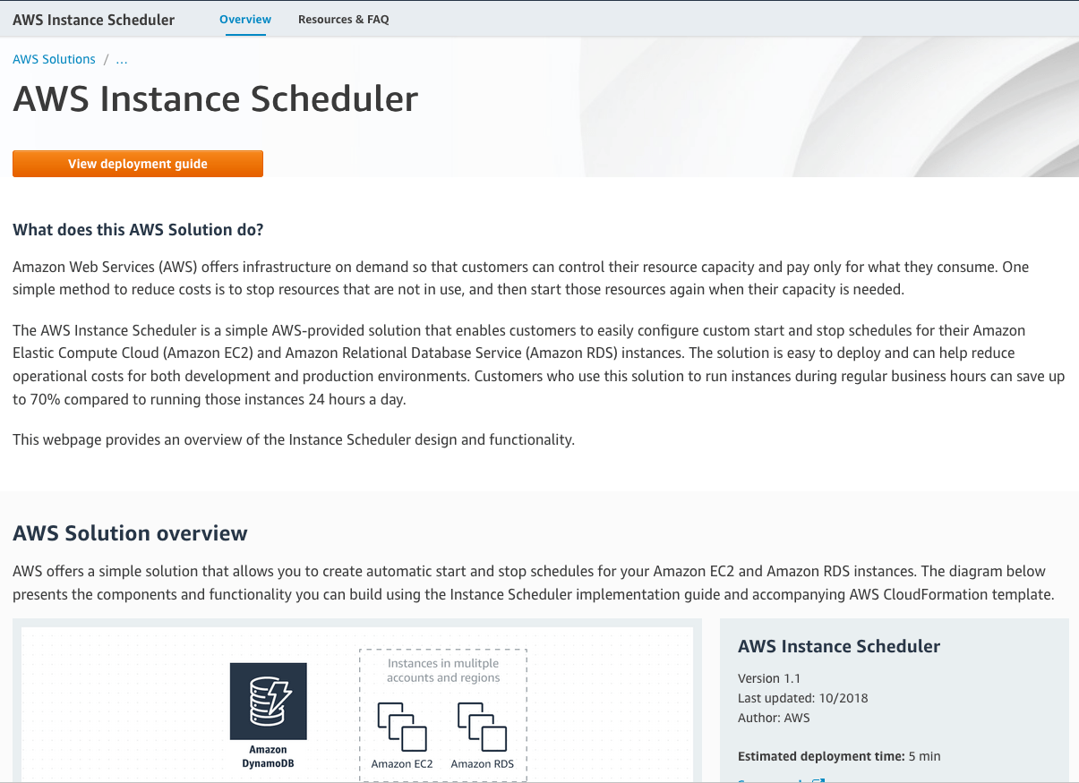 Optimize AWS with the Instance Scheduler - Part I – CDubHub us