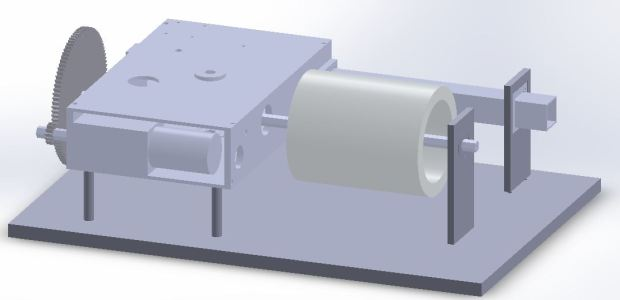 Full CAD assembly of the music box