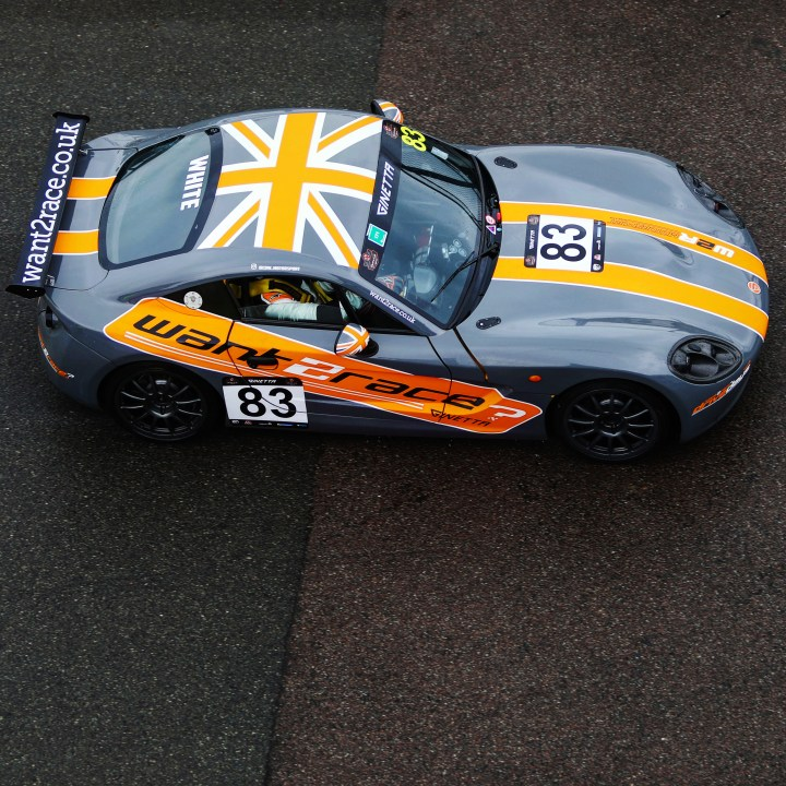 Top down view of CDW Motorsport Ginetta G40 for Motorsport Sponsorship