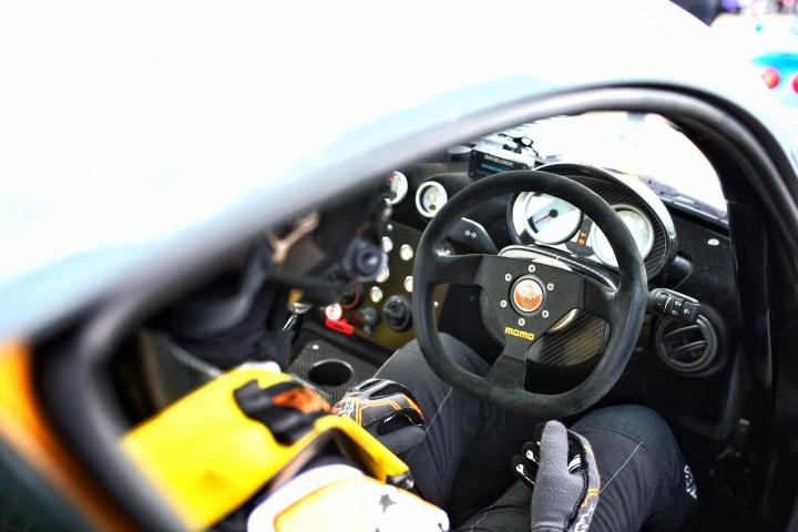 Inside the car of CDW Motorsport Ginetta Drive Days