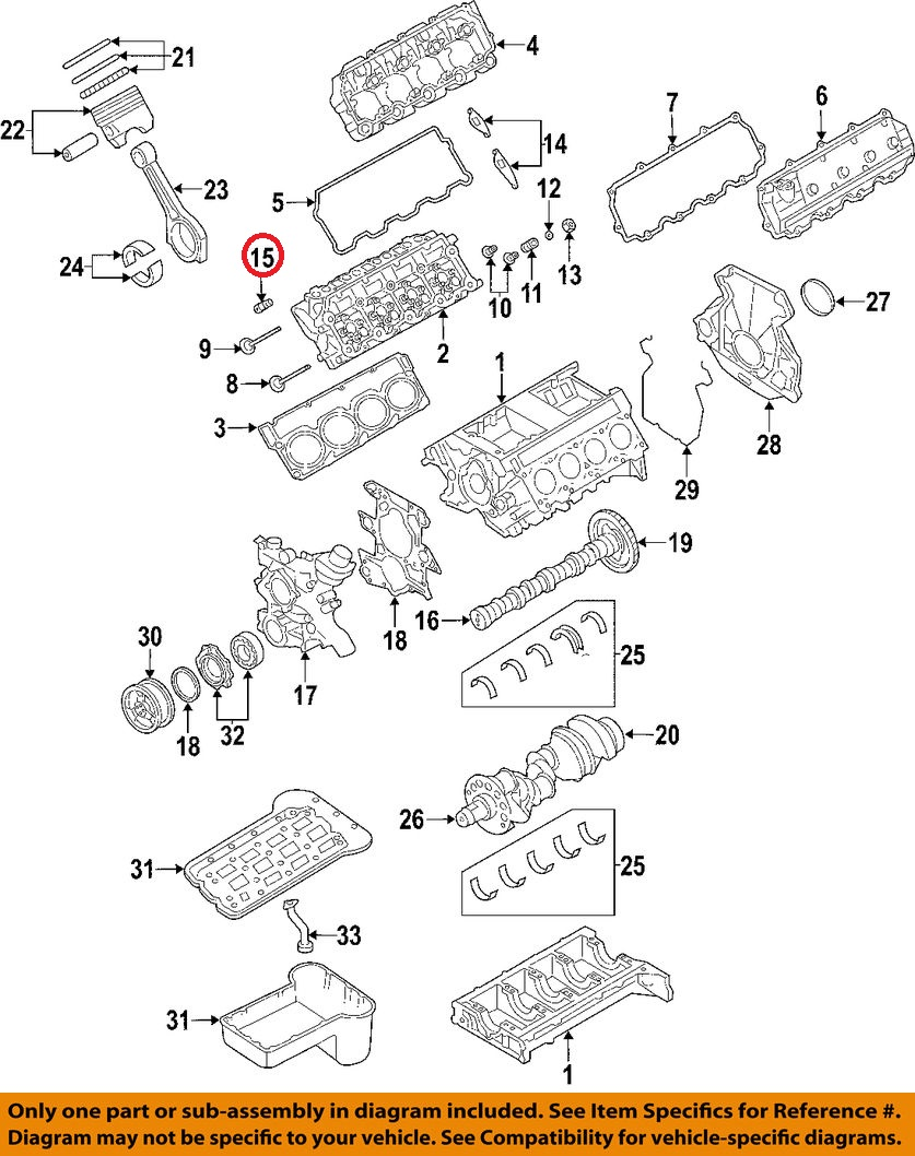 medium resolution of ford 3c3z 6500 aa genuine oem excursion f250 f350 super duty 6 0l valve lifter