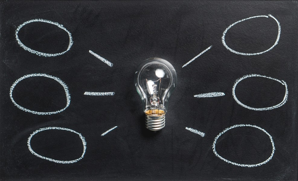 light bulb for business strategy ideas