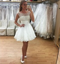 White Prom Dresses,lace Homecoming Dress 2016 ,short Prom ...