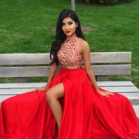 Red Prom Gowns,long Two Piece Prom Dresses 2016 Women's ...