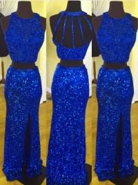 Royal Blue Prom Dress,sequins Prom Dress,mermaid Prom ...