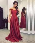 Burgundy Bridesmaid Dress Satin Prom