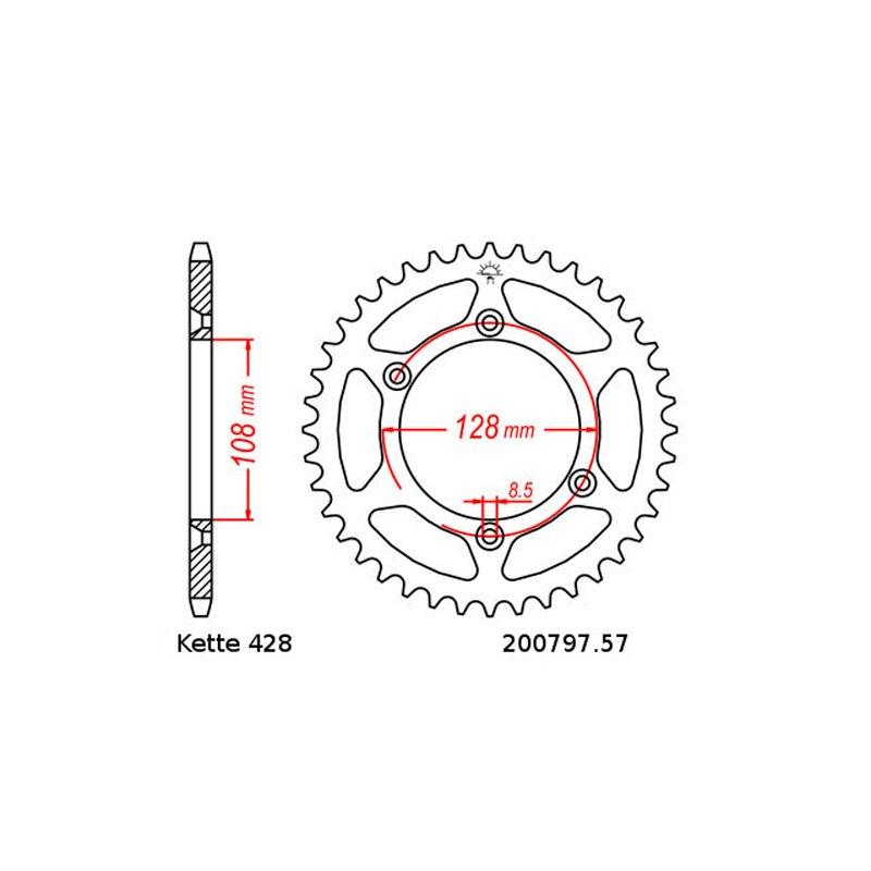 200797.57 428 Kettenrad 57 Zähne