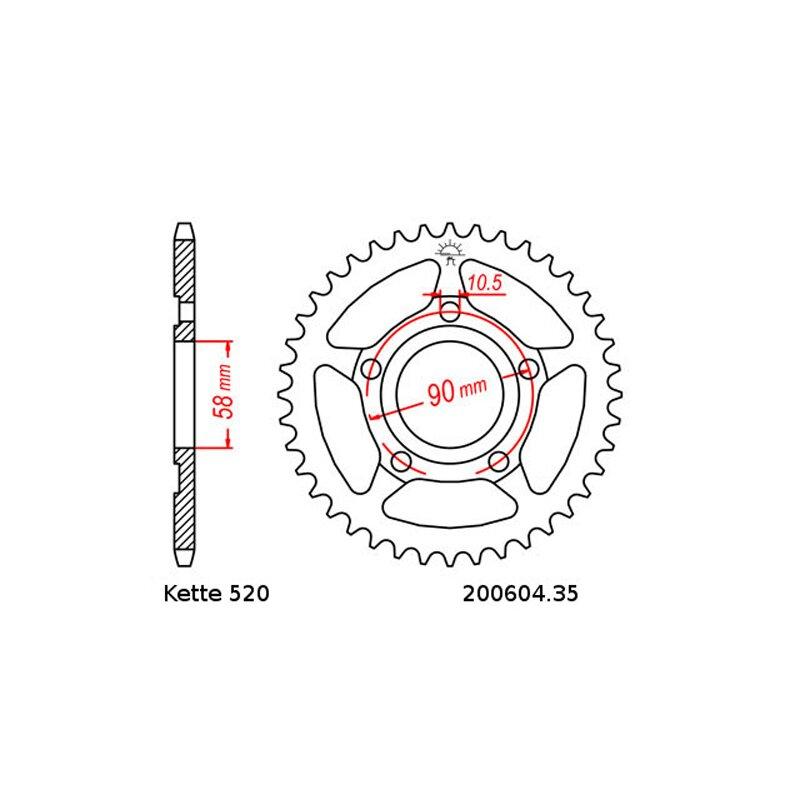 Kettensatz geeignet für Honda NSR 125 96-03 Kette RK FR