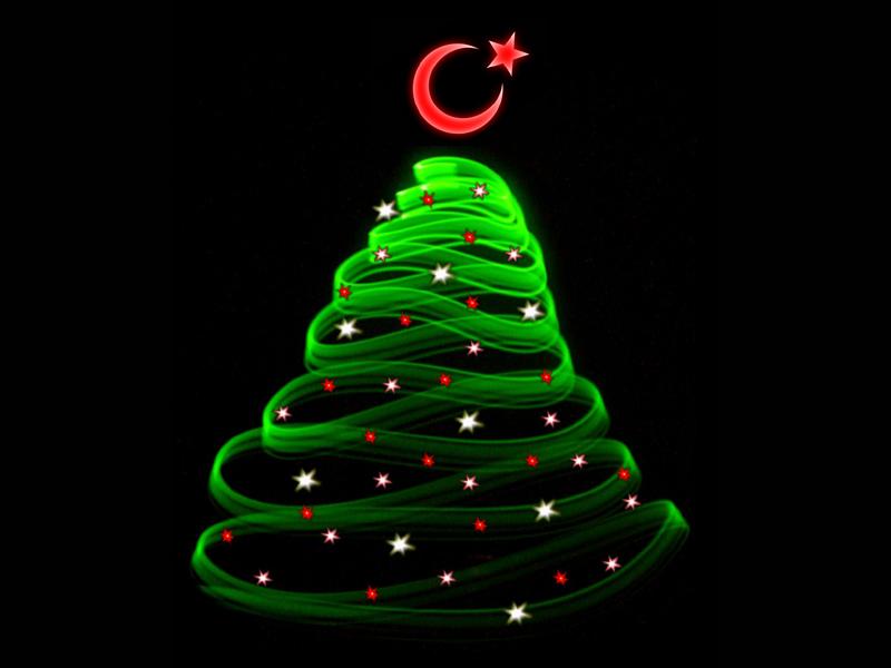 Muslime in Weihnachtsstimmung
