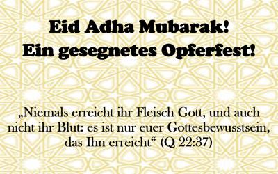 Gedanken zum Opferfest – Eid Mubarak!