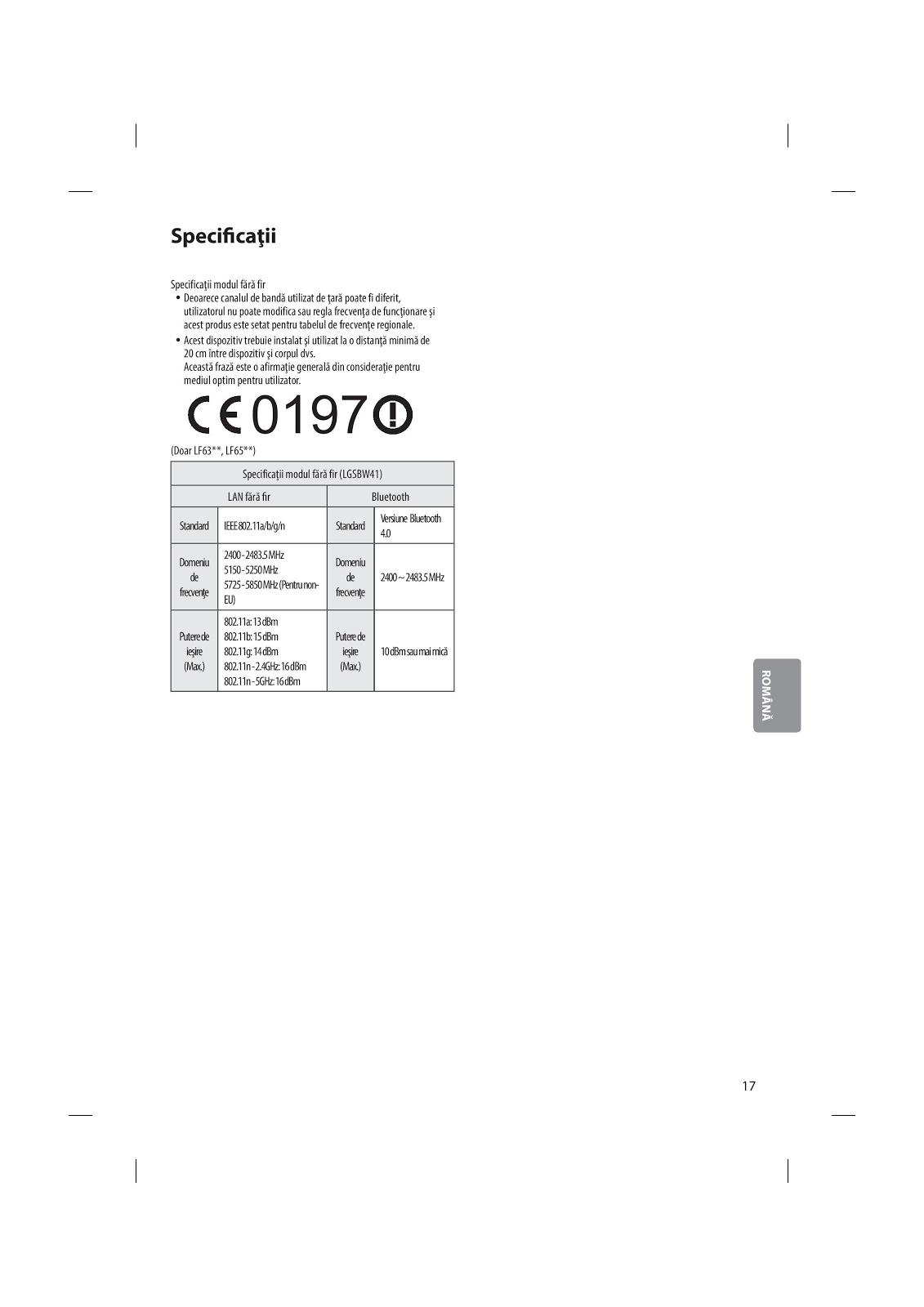 manual de utilizare televizor LG