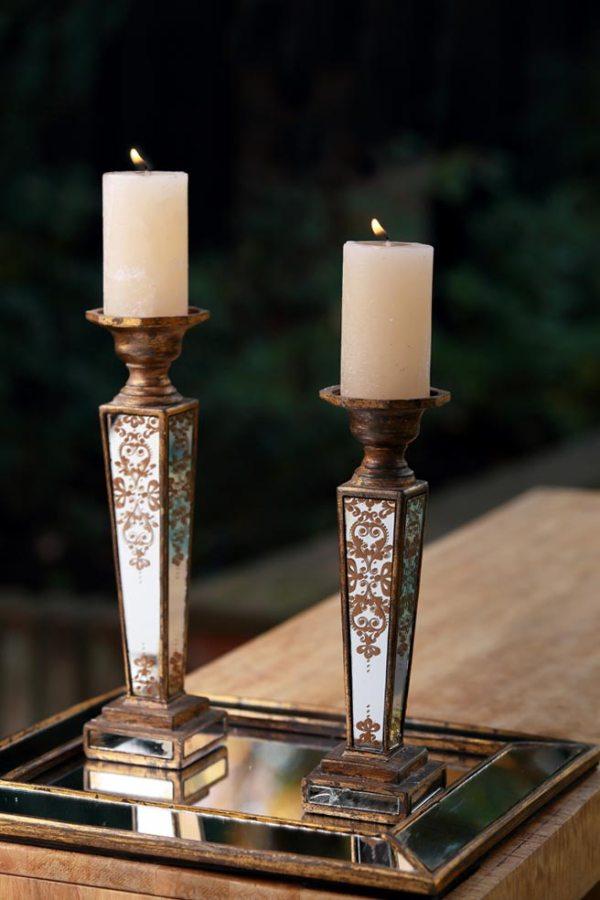 Arriendo candelabro Dorado