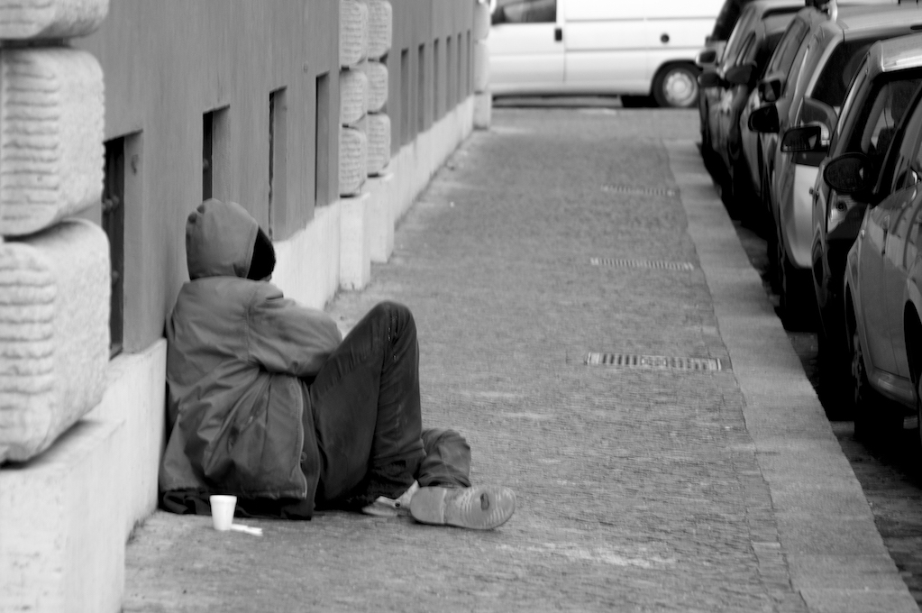 photo of homeless person