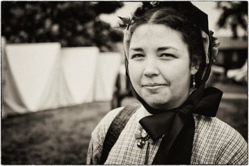 photo of a woman dressed for a reenactment