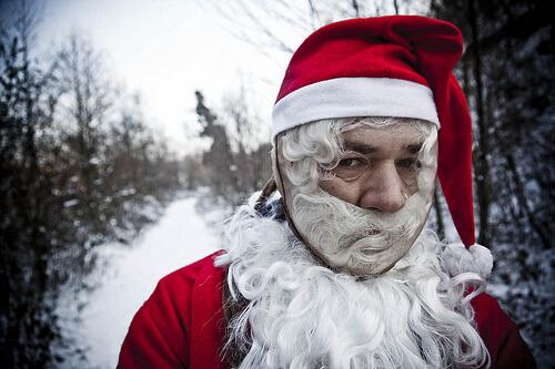 photo of man wearing Santa suit