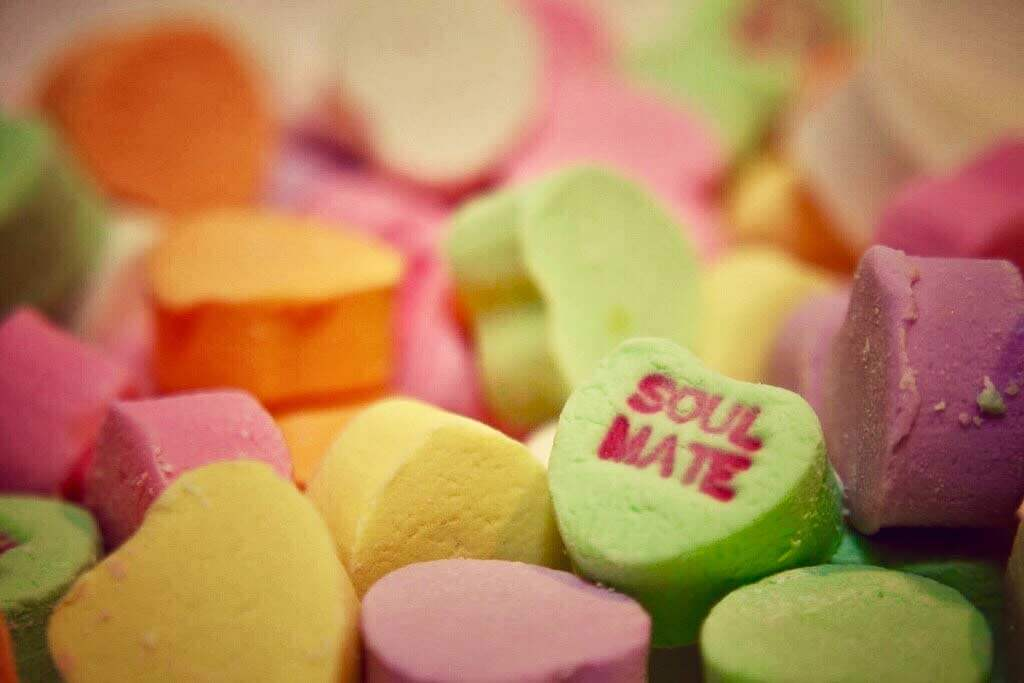 picture of candy Valentine hearts