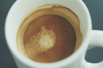 photo of inside of a coffee cup