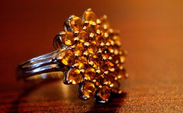 photo of ring with topaz crystals