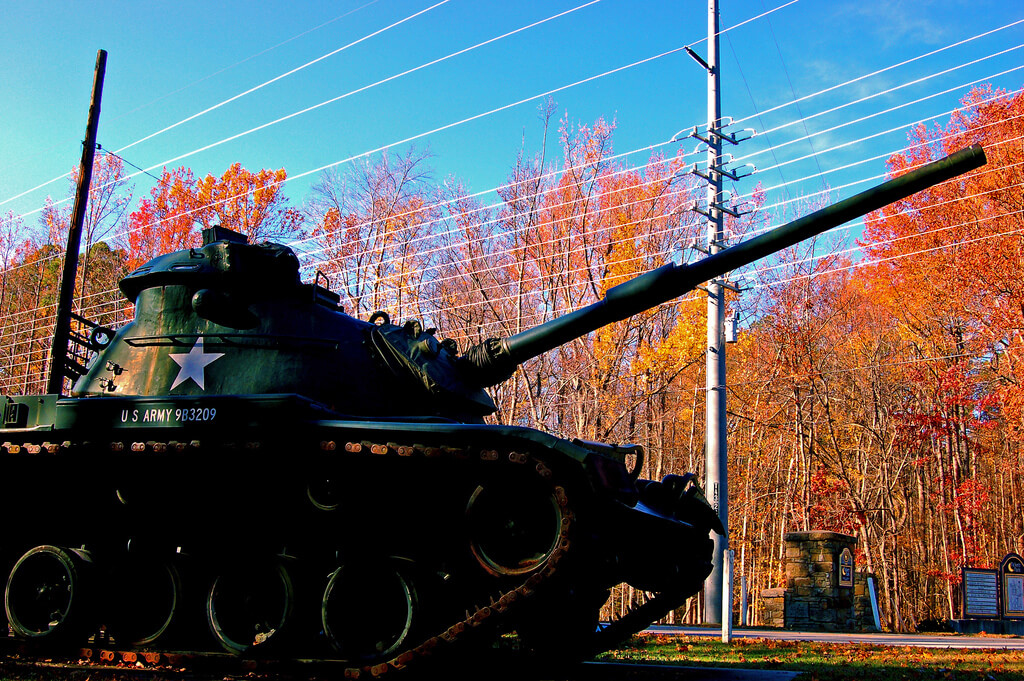 photo of a tank