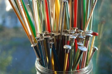 photo of knitting needles