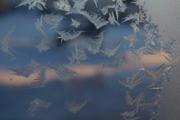 photo of frost on window