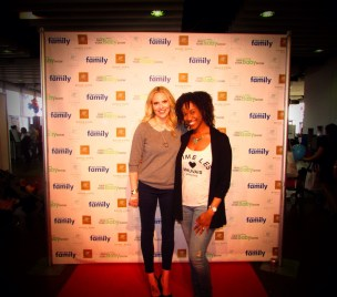 "2014 NY Baby Show w/""Pregnant in Heels"" star, author, designer, fellow mom & maternity guru Rosie Pope."