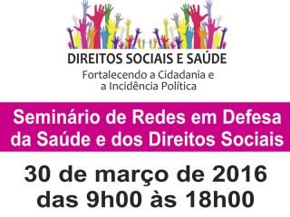 Semináriodebate defesa da saúde e dos direitos sociais em Brasília