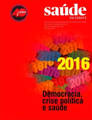 Edição especial: Cebes 40 anos – Democracia, crise política e saúde