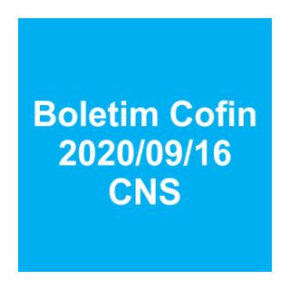 Boletim Cofin 2020/09/16