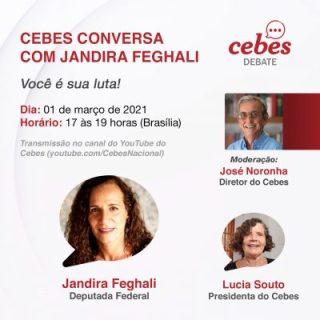 Cebes Debate: 'conversa com Jandira Feghali – Você é sua luta!'
