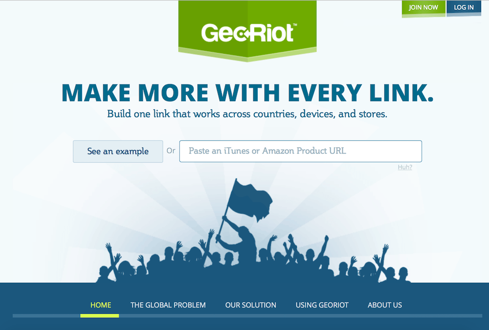 georiot homepage live demo