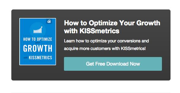 Kissmetrics blog post CTA