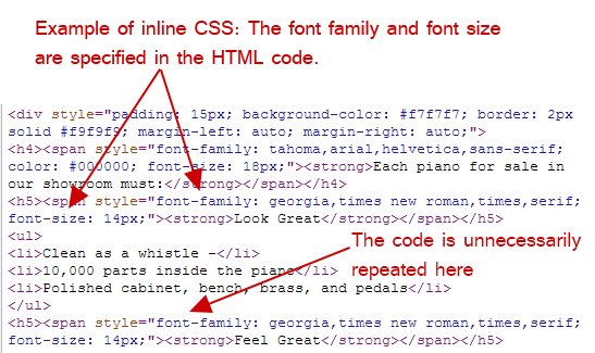 inline css example
