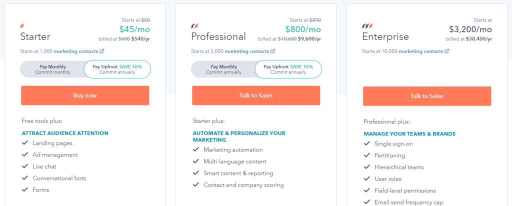 Hubspot Pricing 1 Twin Front