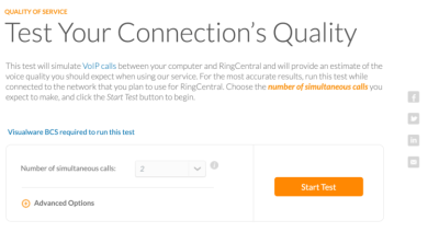 RingCentral quality test