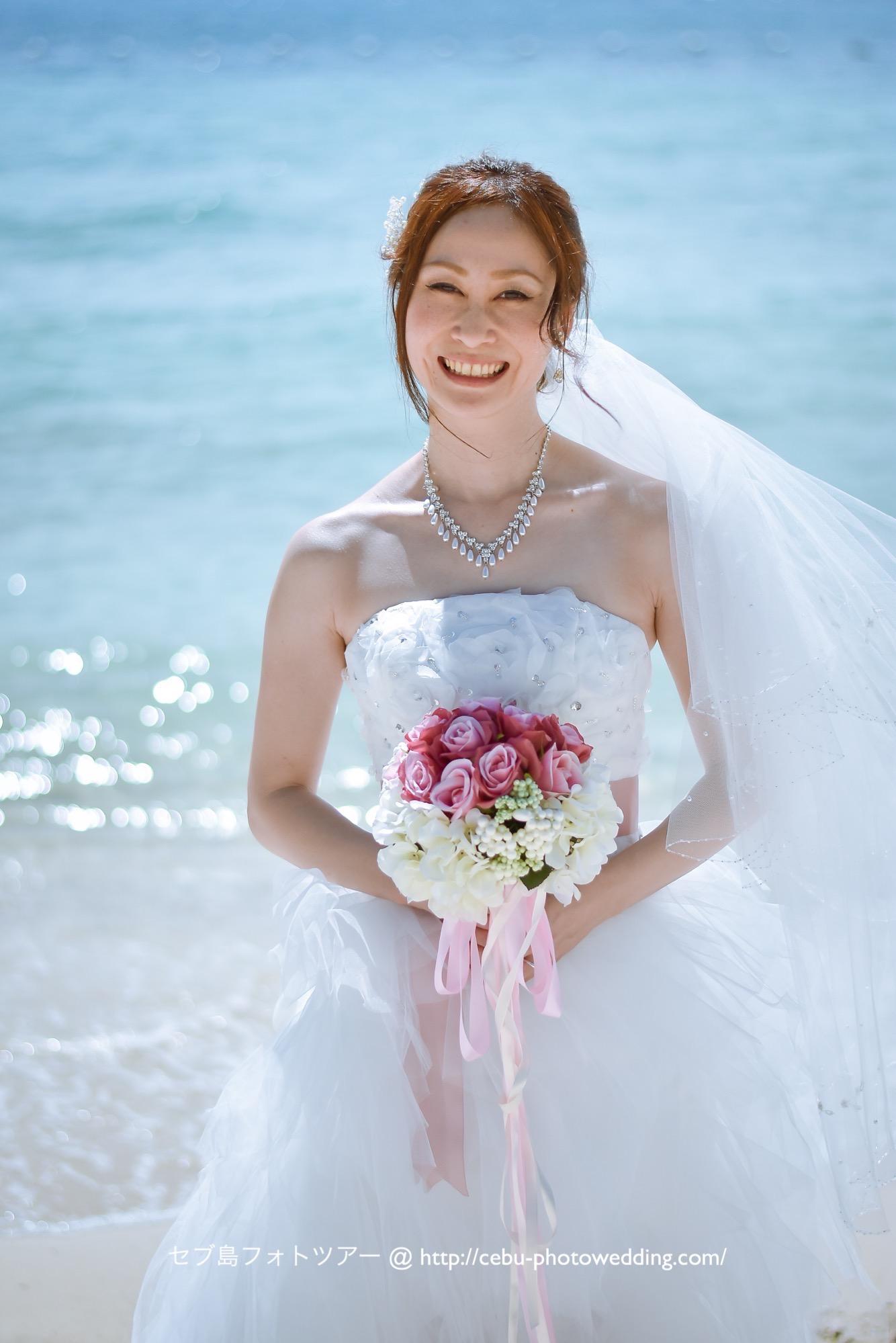 セブ島前撮り 花嫁さまのソロショット
