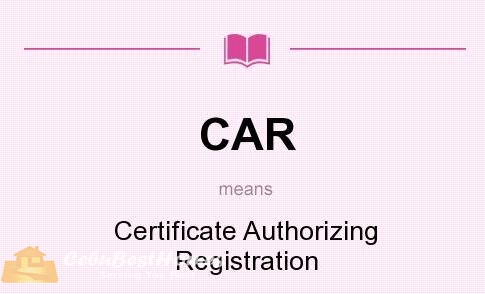 What are the requirements for the release of Certificate Authorizing Registration (CAR) ?